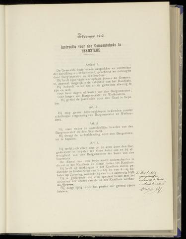 Raadsnotulen Heemstede 1912-02-21