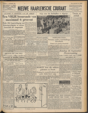 Nieuwe Haarlemsche Courant 1954-09-15