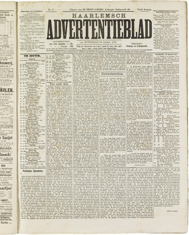 Haarlemsch Advertentieblad 1882-01-25