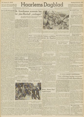 Haarlem's Dagblad 1947-10-20