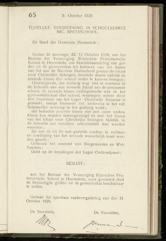 Raadsnotulen Heemstede 1929-10-31