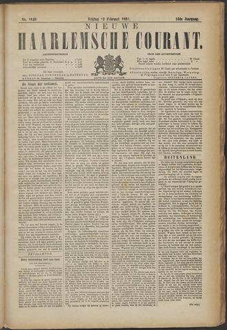 Nieuwe Haarlemsche Courant 1891-02-13