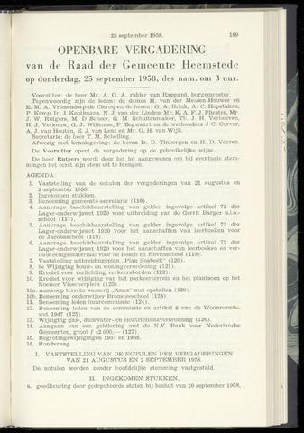 Raadsnotulen Heemstede 1958-09-25