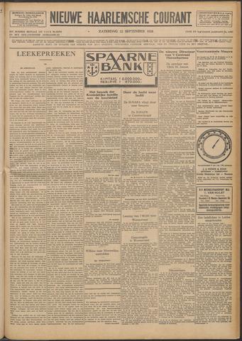 Nieuwe Haarlemsche Courant 1928-09-22