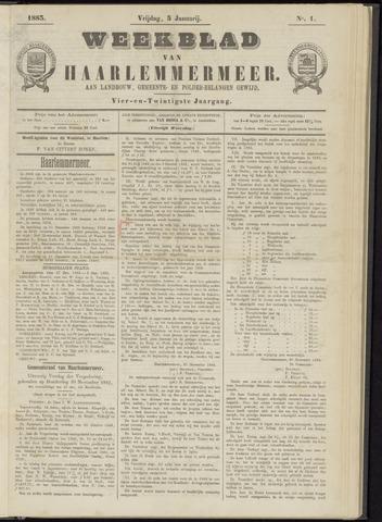 Weekblad van Haarlemmermeer 1883-01-05