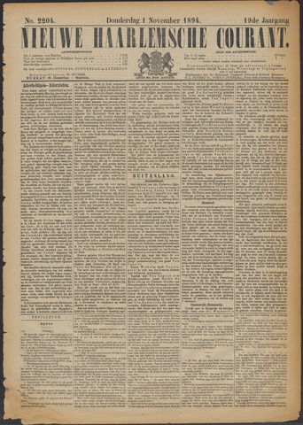 Nieuwe Haarlemsche Courant 1894-11-01