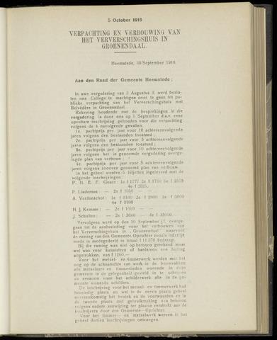 Raadsnotulen Heemstede 1916-10-05