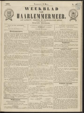 Weekblad van Haarlemmermeer 1868-05-08