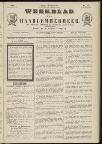 Weekblad van Haarlemmermeer 1881-09-09