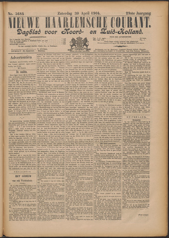 Nieuwe Haarlemsche Courant 1904-04-30