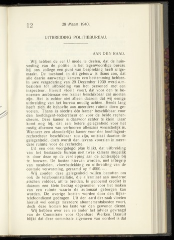 Raadsnotulen Heemstede 1940-03-28