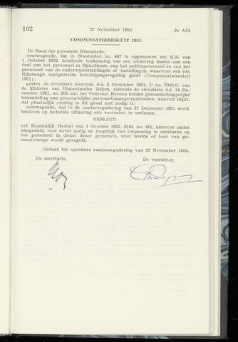 Raadsnotulen Heemstede 1952-11-27
