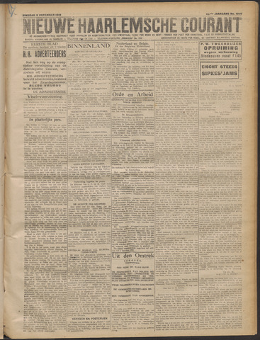 Nieuwe Haarlemsche Courant 1919-12-09