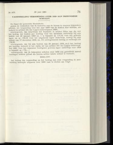 Raadsnotulen Heemstede 1961-06-29