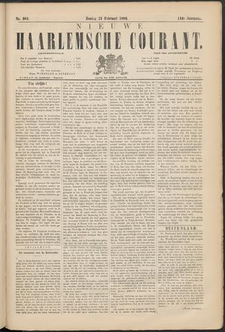 Nieuwe Haarlemsche Courant 1886-02-21
