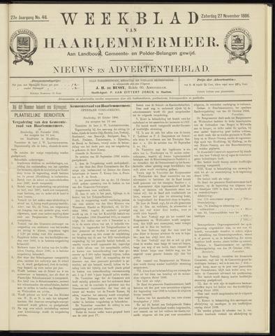 Weekblad van Haarlemmermeer 1886-11-27