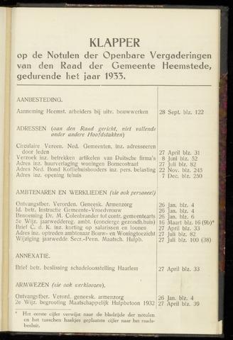 Raadsnotulen Heemstede 1933-01-01