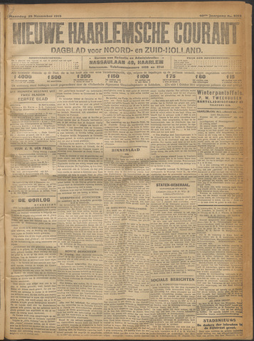 Nieuwe Haarlemsche Courant 1915-11-29