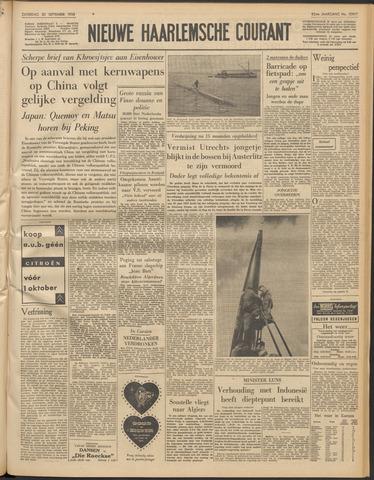 Nieuwe Haarlemsche Courant 1958-09-20