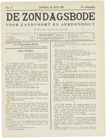 De Zondagsbode voor Zandvoort en Aerdenhout 1912-06-23