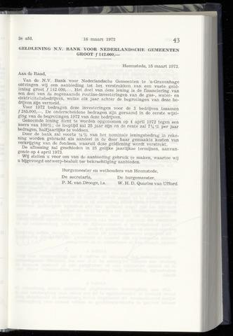 Raadsnotulen Heemstede 1972-03-16