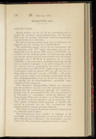 Raadsnotulen Heemstede 1948-02-26