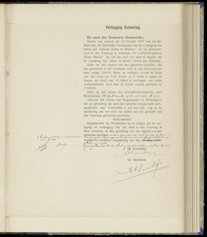 Raadsnotulen Heemstede 1908-02-06