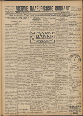 Nieuwe Haarlemsche Courant 1927-07-30