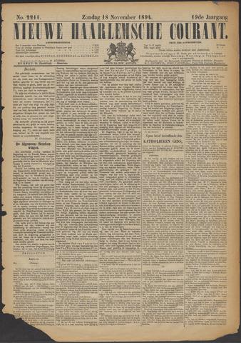 Nieuwe Haarlemsche Courant 1894-11-18