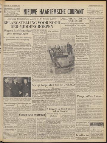 Nieuwe Haarlemsche Courant 1952-11-20