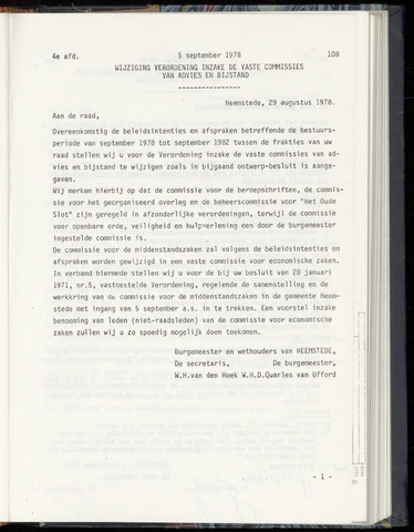 Raadsnotulen Heemstede 1978-09-05