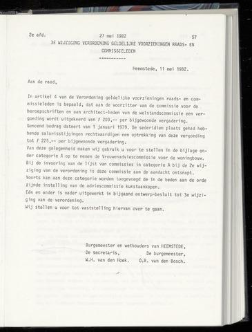Raadsnotulen Heemstede 1982-05-27