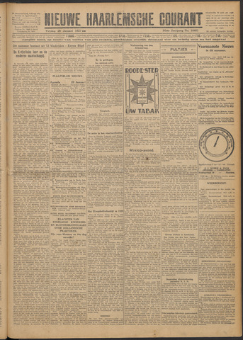 Nieuwe Haarlemsche Courant 1927-01-28