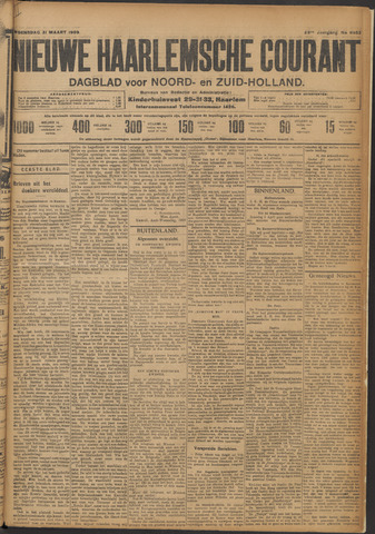 Nieuwe Haarlemsche Courant 1909-03-31
