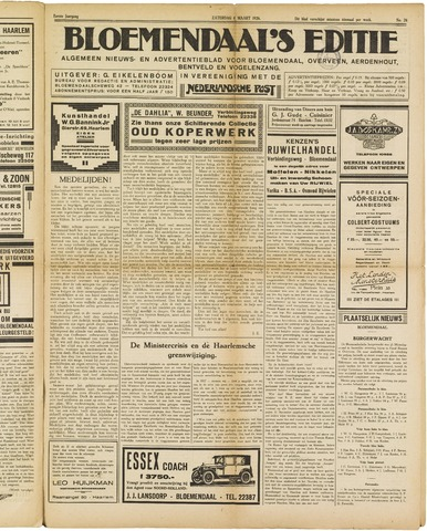 Bloemendaal's Editie 1926-03-06