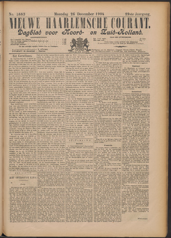 Nieuwe Haarlemsche Courant 1904-12-26