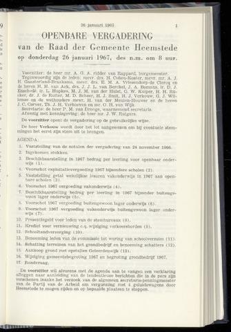Raadsnotulen Heemstede 1967-01-26