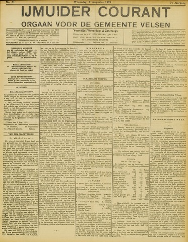 IJmuider Courant 1922-08-09
