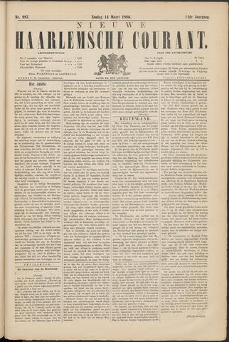 Nieuwe Haarlemsche Courant 1886-03-14