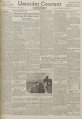 IJmuider Courant 1948-10-18