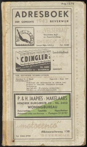 Adresboeken Beverwijk 1943