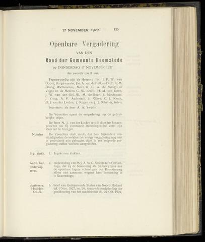 Raadsnotulen Heemstede 1927-11-17