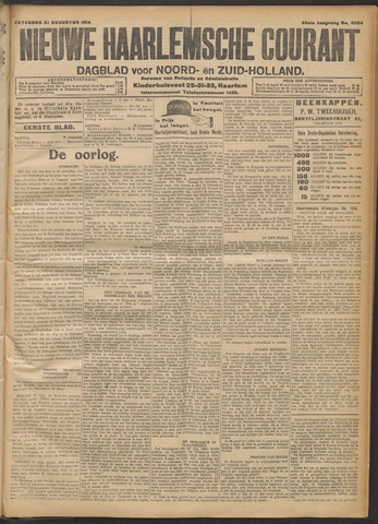 Nieuwe Haarlemsche Courant 1914-08-22