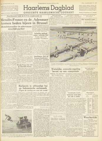Haarlem's Dagblad 1954-08-18