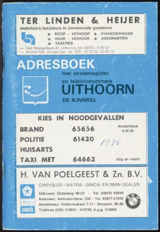 Adresboeken Uithoorn 1976