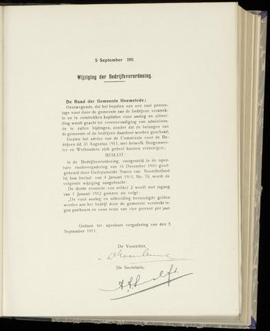Raadsnotulen Heemstede 1911-09-05