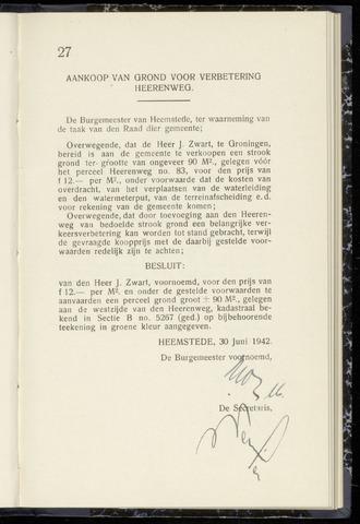 Raadsnotulen Heemstede 1942-06-30