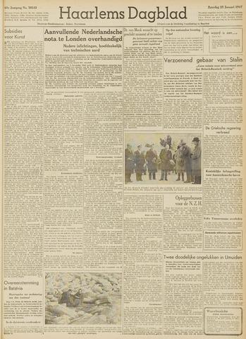 Haarlem's Dagblad 1947-01-25