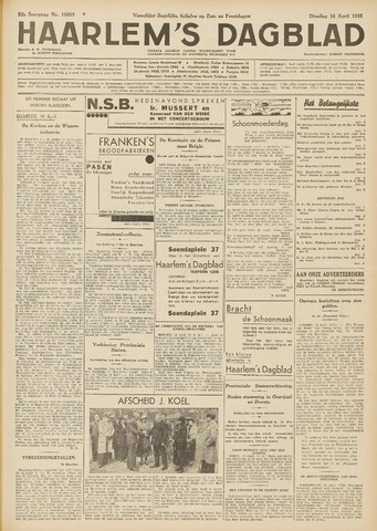 Haarlem's Dagblad 1935-04-16