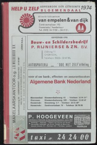 Adresboeken Bloemendaal 1974